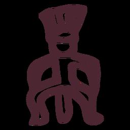 Antiguo símbolo de jeroglíficos de hombre de egipto