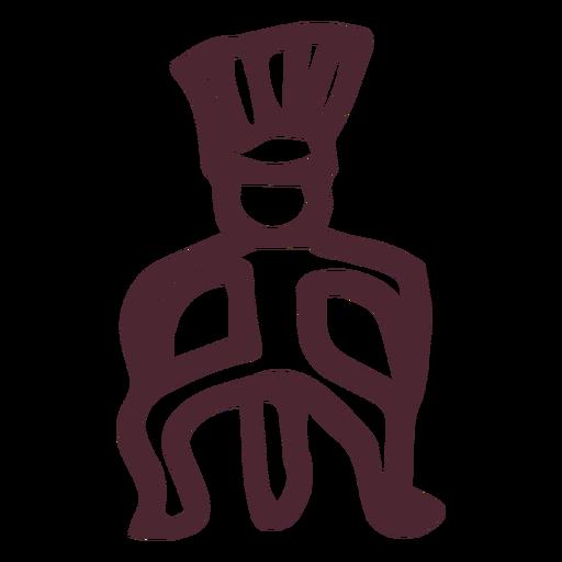 Símbolo de jeroglíficos del hombre del antiguo egipto