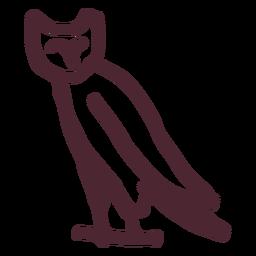 Símbolo del búho de Egipto antiguo