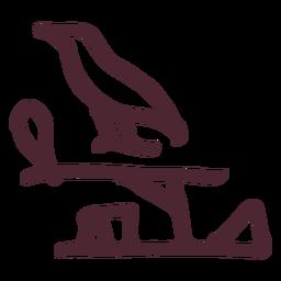 Símbolo de hieróglifos antigo egípcio pássaro