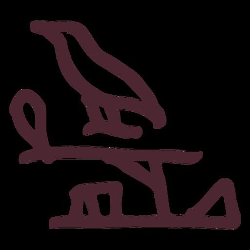 Ancient egyptian bird hieroglyphics symbol Transparent PNG