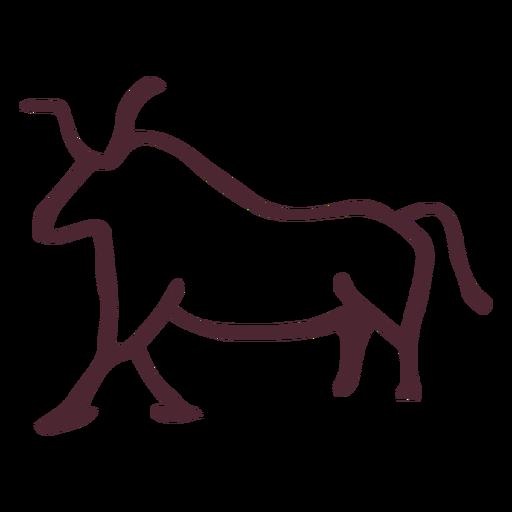 Ancient egyptian bull symbol