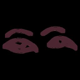 Símbolo de hieróglifos antigos olhos egípcios