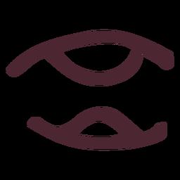 Símbolo de los antiguos jeroglíficos egipcios