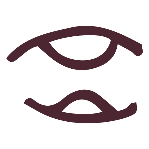 Ancient egyptian hieroglyphics symbol Transparent PNG