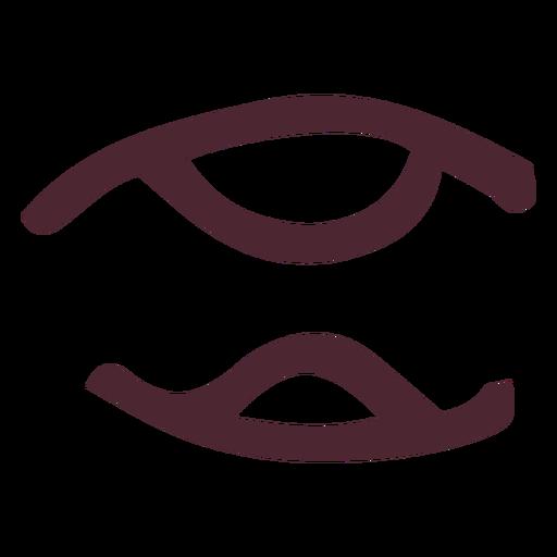 Ancient egyptian hieroglyphics symbol