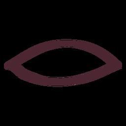 Símbolo de hieróglifos da antiga egípcia boca