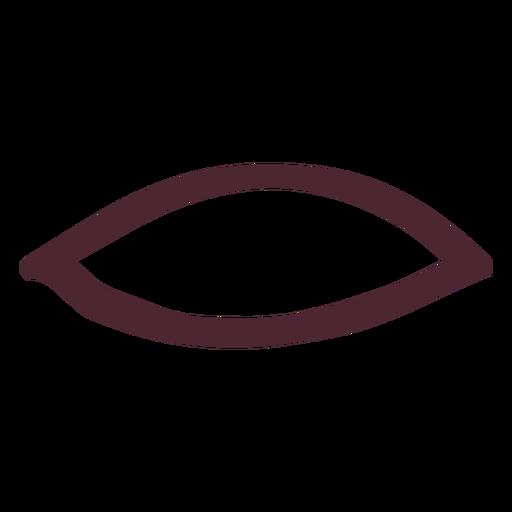 Ancient egyptian mouth hieroglyphics symbol Transparent PNG