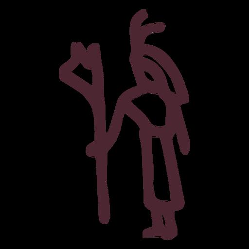 Símbolo de jeroglíficos del faraón egipcio antiguo