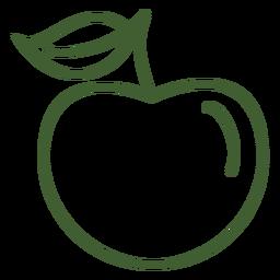 Icono de fruta de manzana