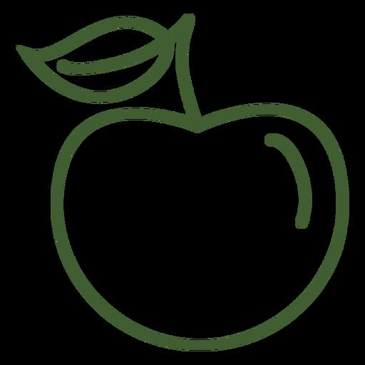 Icono de fruta de manzana Transparent PNG
