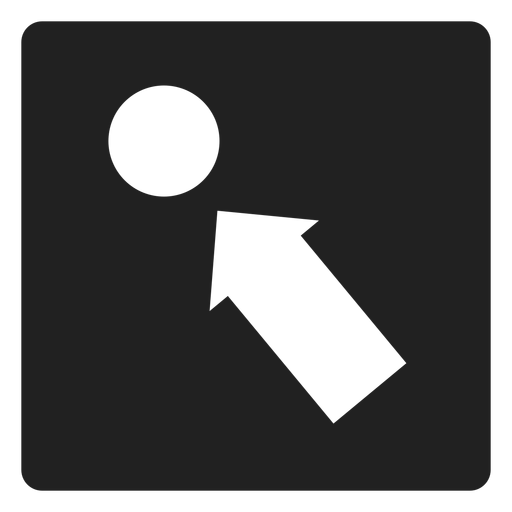 Arrow pointing a circle square icon Transparent PNG