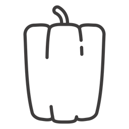 Bell pepper stroke icon