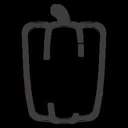 Ícone de traçado de pimentão