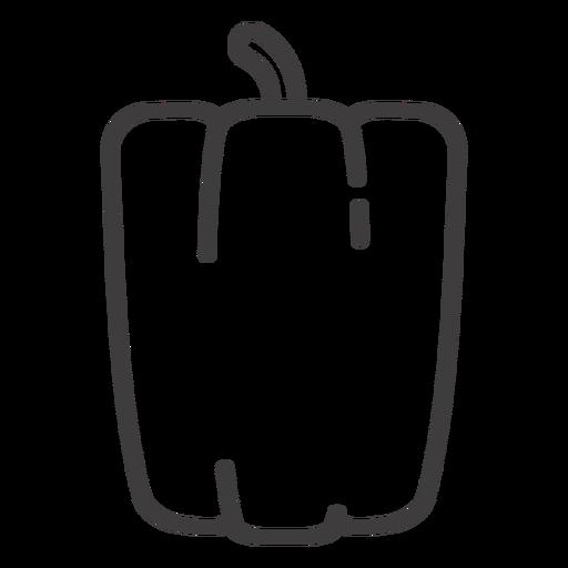 Ícone de traçado de pimentão Transparent PNG
