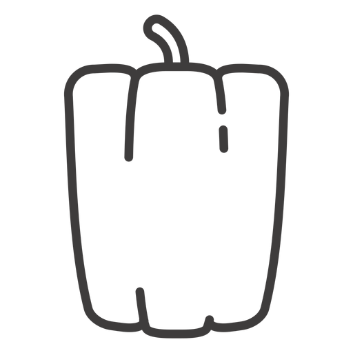 Bell pepper stroke icon Transparent PNG