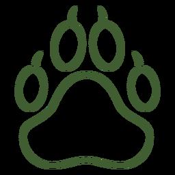 Großes Tier Pfotenabdruck Symbol