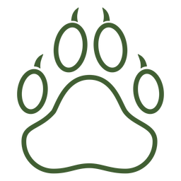 Icono de impresión de pata de animal grande