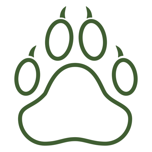 Big animal paw print icon Transparent PNG
