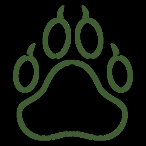 Big animal paw print icon