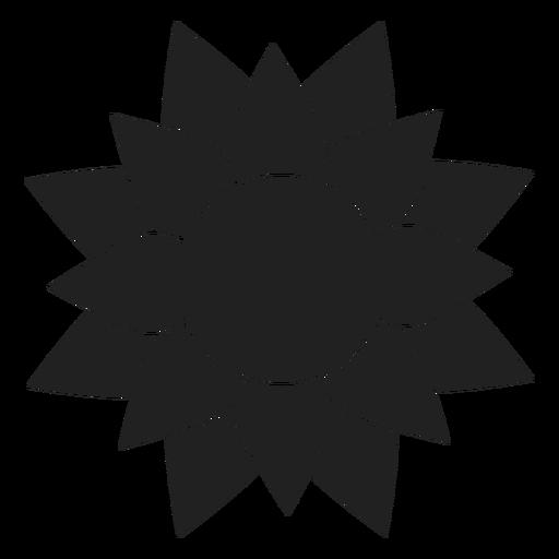 Gran icono de la flor de la dalia Transparent PNG