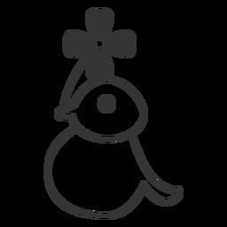 Icono de vector de pájaro y hoja