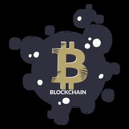 Distintivo de cadeia de bloco de Bitcoin