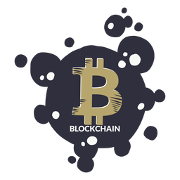 Insignia de la cadena de bloque de Bitcoin