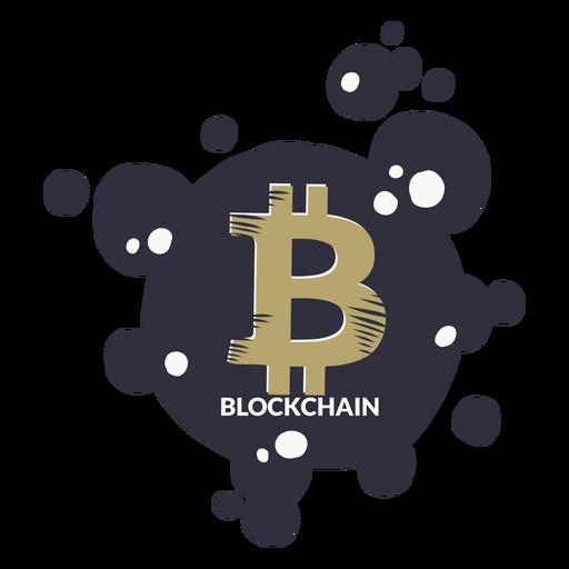 Insignia de la cadena de bloque de Bitcoin Transparent PNG