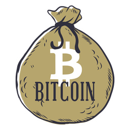 Bitcoin money bag badge