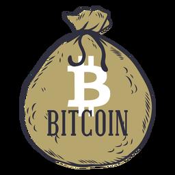 Distintivo de saco de dinheiro Bitcoin