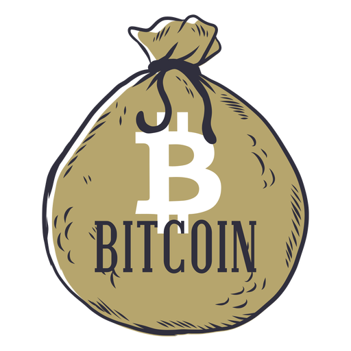Bitcoin money bag badge