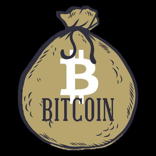Distintivo de saco de dinheiro Bitcoin Transparent PNG