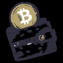 Crachá de carteira Bitcoin
