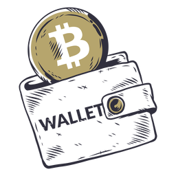 Insignia de la billetera bitcoin
