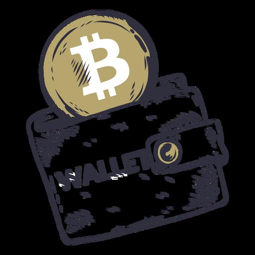 Bitcoin wallet badge Transparent PNG