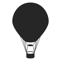 Black hot air balloon silhouette
