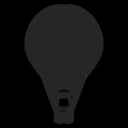 Silhueta de balão de ar quente preto