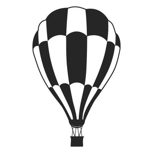 Black and white checkered air balloon balloon silhouette Transparent PNG