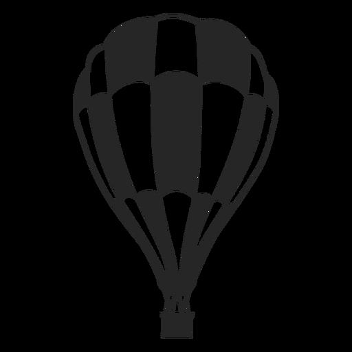 Silhueta de balão de balão de ar preto e branco quadriculada Transparent PNG
