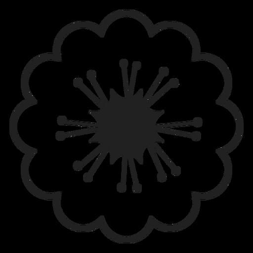 Icono De Flores De Cerezo Blanco Y Negro Descargar Png Svg
