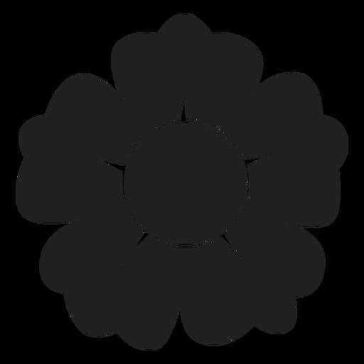 ícone De Flor De Pétala De Cinco Preto E Branco Baixar Png