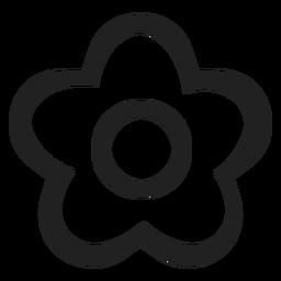 Ícone de flor preto e branco