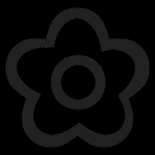 ícone De Flor Preto E Branco Baixar Pngsvg Transparente