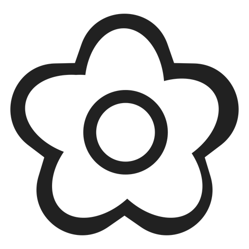 Black And White Flower Icon Transparent Png Svg Vector