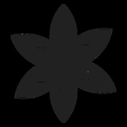 Vector de flor blanco y negro
