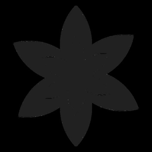 Vector De Flor Blanco Y Negro Descargar Pngsvg Transparente
