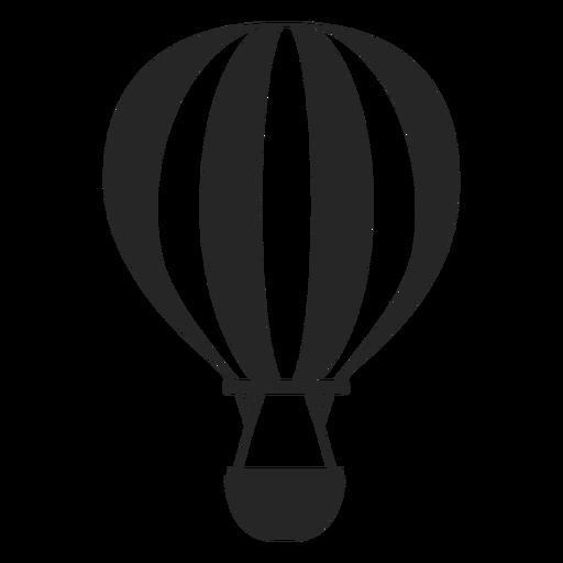 Silueta de globo de aire caliente en blanco y negro