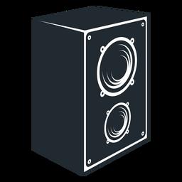 Ícone de alto-falante preto e branco
