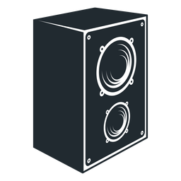 Schwarz-Weiß-Lautsprecher-Symbol